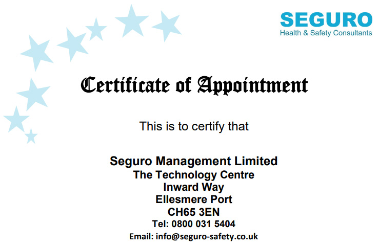 Certificate for Competent Resource 2020